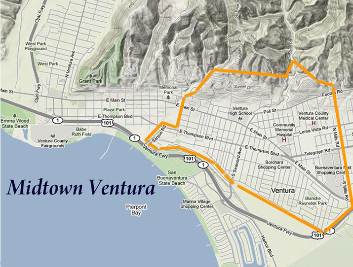 Midtown Ventura Map